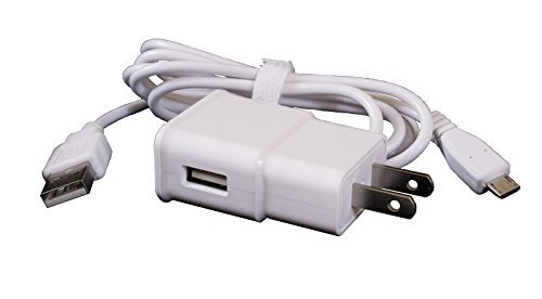 ReadyPlug USB Charger for Insignia Flex 7 NS-15AT07 - AC Wall Adapter and Charger Cable (6 Feet, White)