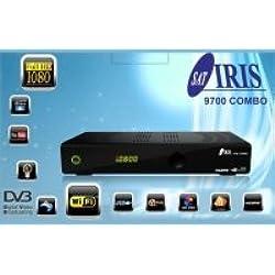 IRIS 9700 HD 02 - Receptor de TV por satélite (Wi-Fi, HDMI, DVB-S2), color negro