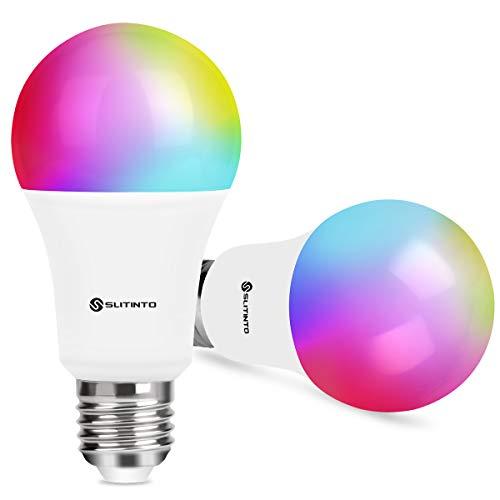 Lampadina Wifi Intelligente Led Smart Dimmerabile 9W 1000Lm, SLITINTO E27 Multicolore Lampadina...