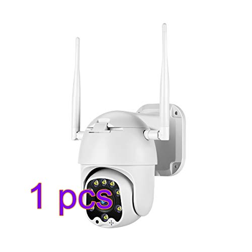 Tomlov Telecamera IP Wi-Fi 1080P Esterno, 2MP Pan/Tilt 4X Digital Zoom, Visione Notturna 100ft per Android/iOS App Casa Ufficio