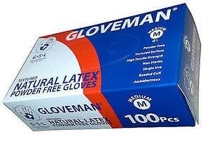 Guanti in vinile blu, senza polvere e senza lattice, 100guanti per scatola, taglia M, adatti per...