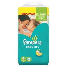 Pampers Baby Dry-Pannolini, misura: 4 server-Pannolini, confezione da 120