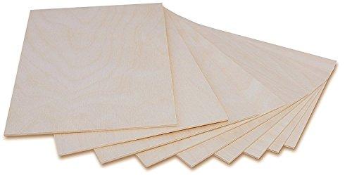 Creative Deco 10 x A3 Holzplatte Sperrholz Laubsäge 3mm | 420 x 300 x 3 mm | Dünne Platten Blatt Birke Holz Spanplatte | Perfekt für Brandmalerei, Laserschnitt, CNC Router, Durchbrochenes