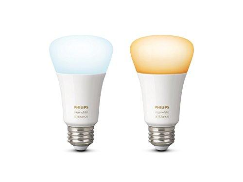31xXgEM-iqL [Bon Plan Philips HUE] Philips Hue Pack de 2 ampoules connectées White Ambiance E27 - Fonctionne avec Alexa