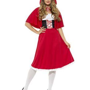 Smiffys-44686L DisFRAaz de Caperucita Roja, con Vestido Largo y Capa, Color Rojo, L-EU Tamaño 44-46 (Smiffy'S 44686L)