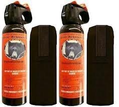 2 Personal Defense UDAP Bear Sprays w/Holsters 12VHP