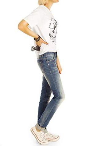 bestyledberlin-Damenjeans-Low-Waist-Hftjeans-Hose-in-bequemer-Boyfriend-Passform-Stretch-Weit-Locker-j28g-2-36S-Bleached