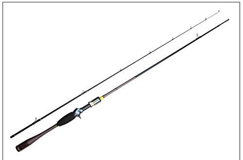 Seaquest Bait Casting 6'3'190cm 2PC Canna da Pesca Portatile da Pesca Canna da Pesca 6ft3in Potenza Media/Leggera, SF C632ML