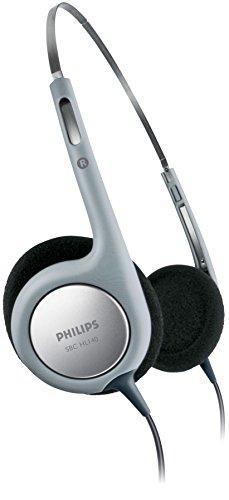 Philips SBCHL140 - Auriculares ligeros con cable para PC (conexión del cable reforzada, fácil de usar) color gris