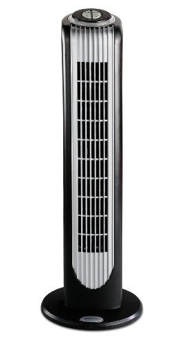 Bionaire BT16RBS-IN 40-Watt Remote Control Tower Fan (Black and Silver)