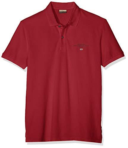NAPAPIJRI Elbas 2 Polo, Rosso (Rhubarb Red R85), X-Large Uomo
