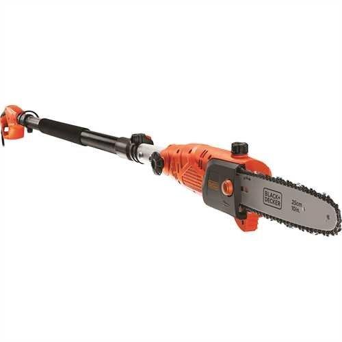 BLACK+DECKER PS7525-QS Motosierra eléctrica telescópica (pértiga) 800W, espada de 25cm