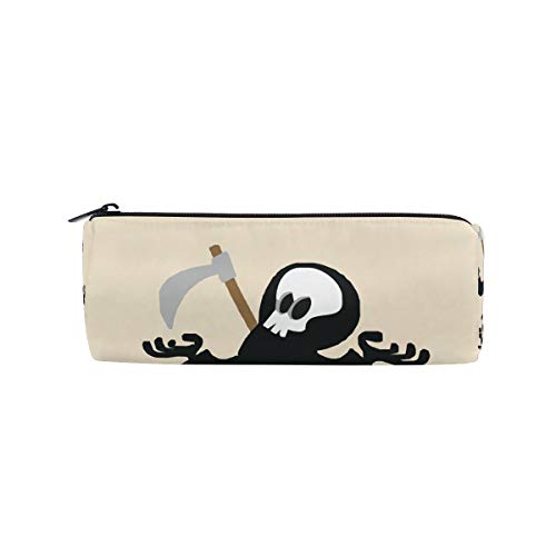 Bennigiry nero horror Skull Pencil Case Pen bag, multifunzionale cancelleria della cerniera borsa...