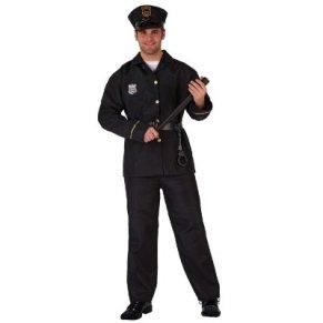 Atosa-93771 Disfraz Policía, color negro, M-L (93771)