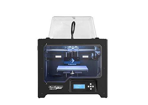 Flashforge Stampante 3D Creator Pro Stampante doppio estrusore a Ottimizzato Piastra Costruire e...