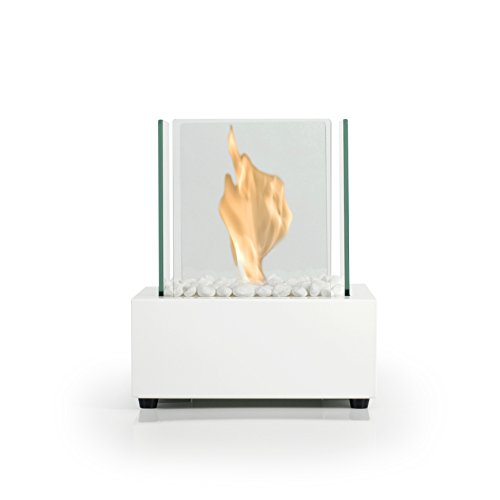 Bio Fires Glass Cube II White Bio Ethanol Burner