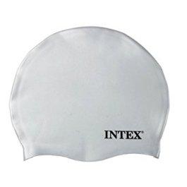 Intex 55991, Cuffia in Silicone, Bianca/Blu/Nero