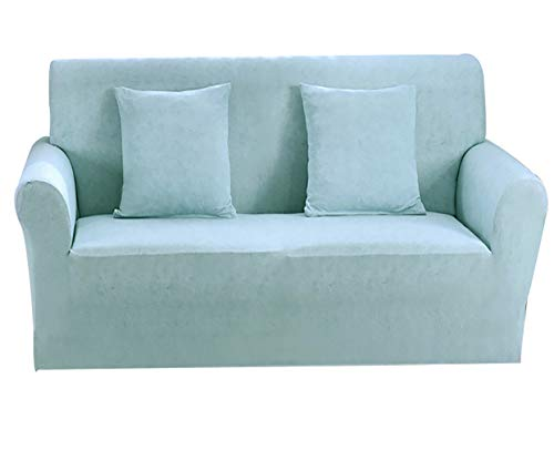 zhbotaolang Cubierta Acolchada de los Muebles - Protector del Amortiguador Funda Cubre Sofá Elástica Anti Sucio (Azul Claro,1 Plaza)