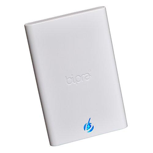 Bipra, hard disk esterno portatile NTFS da 6,3 cm con USB 3.0, S3, colore bianco bianco White 320 GB