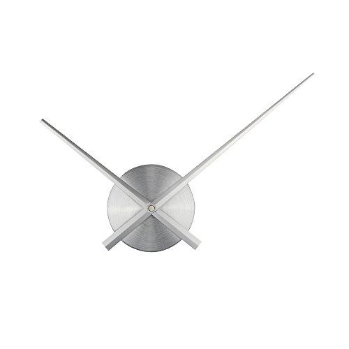 Timelike, lancette 3D, lancette grandi per orologio da parete, con meccanismo al quarzo e accessori (color argento), ideale come decorazione casalinga fai da te in 3D