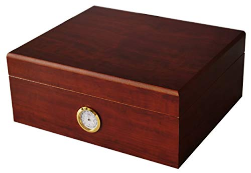 GERMANUS Sigari Humidor Classicus II con igrometro e umidificatore e GERMANUS Manuale Marrone