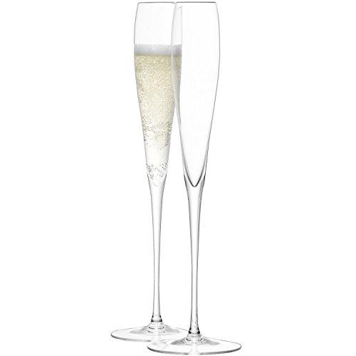 LSA International - Calice flute da champagne. 100 ml. confezione da 2. trasparente