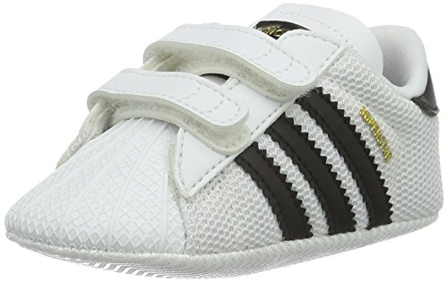 adidas Superstar Crib, Sneakers Unisex - Bimbi 0-24, Bianco (Footwear White/core Black/footwear White), 18 EU