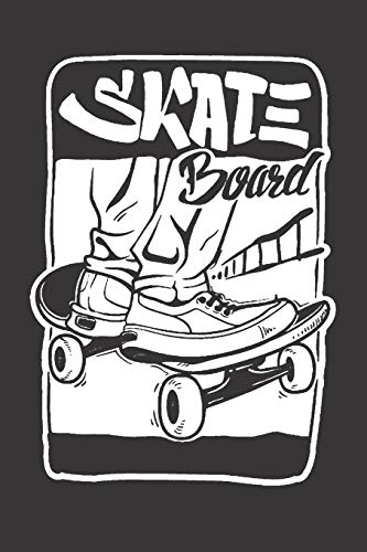 Notebook for sk8er sk8 longboard skate card: Dot Dotted Grid Funny Notebook Diary Journal Skater...