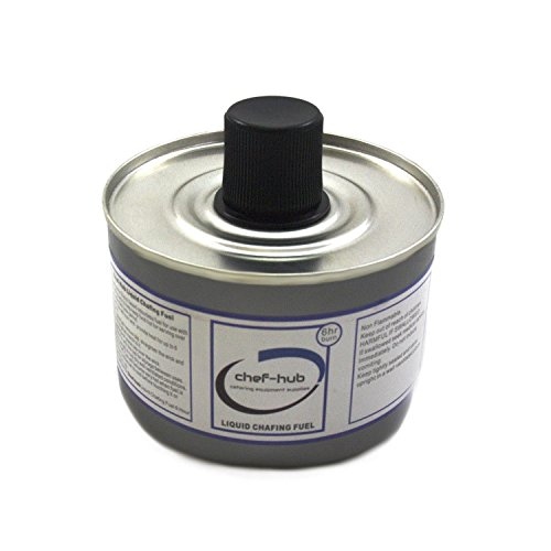 Chef-Hub, 24 Tin X Chafing Fuel Liquid Gel, 6 Hour Burn Time, Ideal for Weddings, Banquets, Buffets, Hotels