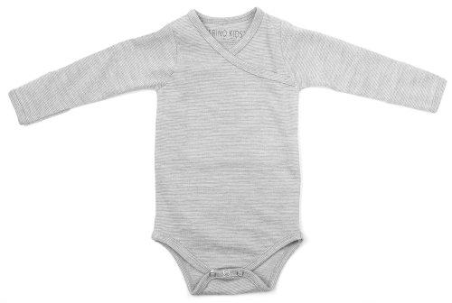 Merino Kids, Body a Maniche Lunghe, Tortora, per neonati 3-6 mesi