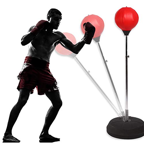 GOTOTOP Punching Ball Sacco da Boxe con Guantoni da Boxe,Pedana Punching Stand Fitness Punzonatura...