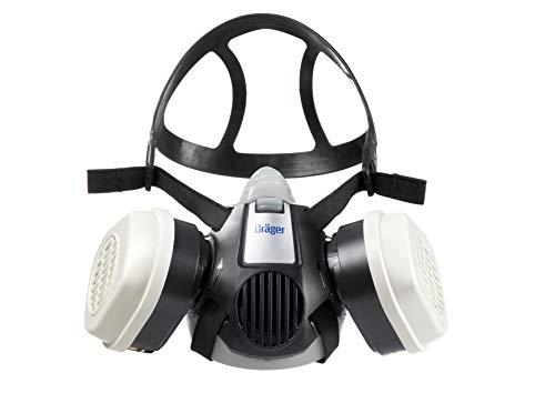 Dräger X-plore 3300 Halbmasken-Set inkl. A2P3 Kombi-Filter | Gr. M | Atemschutz-Maske für Maler & Lackierer gegen Gase, Dämpfe, Fein-Staub/Partikel