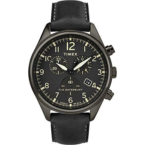 Timex Orologio Cronografo Quarzo Uomo con Cinturino in Pelle TW2R88400