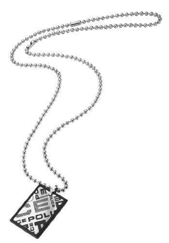 Police PL23880PSB-01-Collana da Uomo in Acciaio Inossidabile Argentato, 45 cm