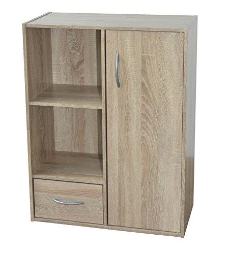 Alsapan Compo 09 Mobiletto in legno con strato superficiale in melammina, con un'anta, un cassetto...