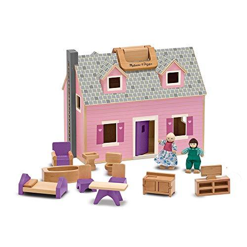 Melissa and Doug Gioco in legno Casa delle bambole trasportabile
