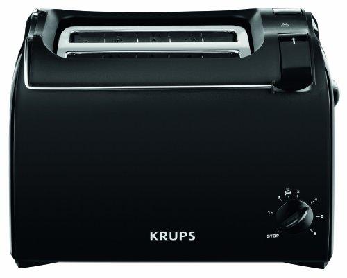 Krups KH1518 Tostapane Aroma, 2 fette, 700 W, roll top, nero/bordeaux