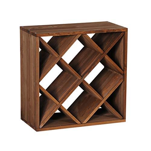 Cantinetta / scaffale per vino / sistema CUBE 50, legno massiccio, modulo a rombo - a 50 x l 50 x p...