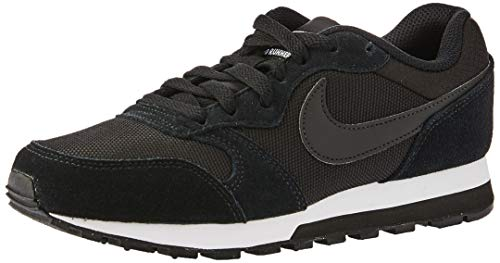 Nike Wmns Md Runner 2, Zapatillas Mujer, Negro (Black / Black-White), 38