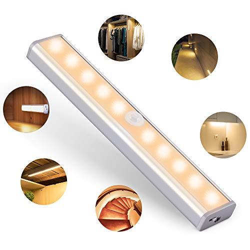 OUSFOT Luce Armadio Led Guardaroba con Sensore di Movimento , Luce Notturne con USB 10 LED Luci...