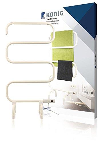 König KN-TH10 100W Color blanco secadora eléctrica para toallas - Secador de toallas (50/60, 50 mm, 510 mm, 860 mm, 3,13 kg)