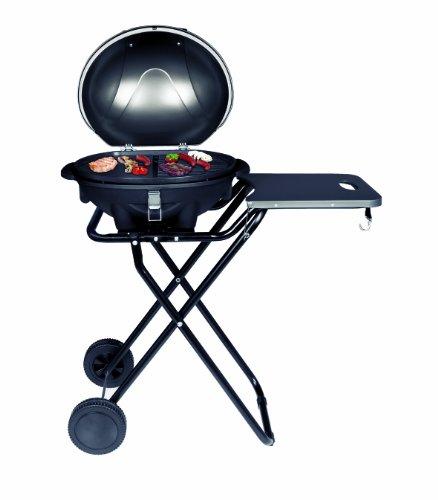 SUNTEC Barbecue/braciere elettrico BBQ-9493 [cofano amovibile con indicatore di temperatura, ripiano...
