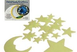 *Coffret de 23 étoiles et 1 lune phosphorescentes pour décorer une chambre d 'enfant. Livraison gratuite Magasin en ligne