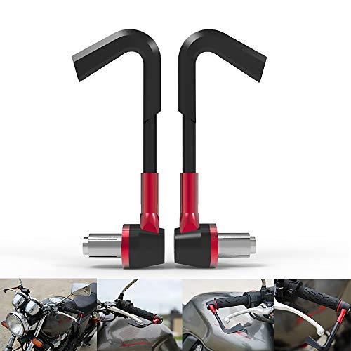 LIDMOTO Motorrad-Handschilder Motorrad-Armschutz Konvertiertes Zubehör Fallschutzausrüstung. Universal CNC Aluminiumlegierung,red