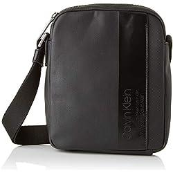Calvin Klein - Elevated Mix Mini Reporter, Shoppers y bolsos de hombro Hombre, Negro (Black), 5x21x17 cm (B x H T)