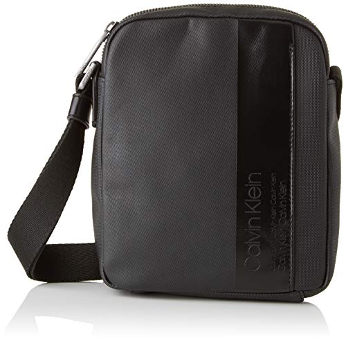 Calvin Klein - Elevated Mix Mini Reporter, Shoppers y bolsos de hombro Hombre, Negro (Black), 5x21x17 cm (B x H T)