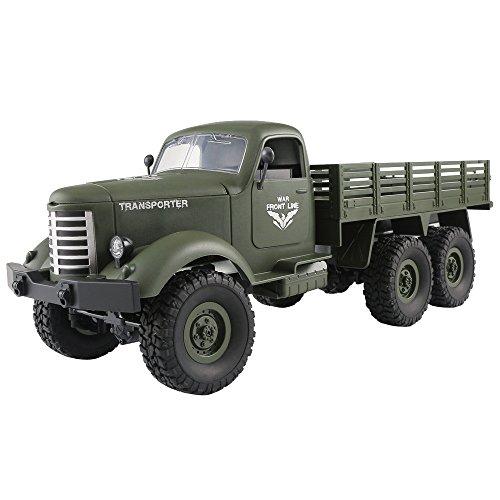 Ginli Camion Militare con 6WD in Scala 1:16, Telecomandato RC 12KM/H, RC Military Truck Distanza...