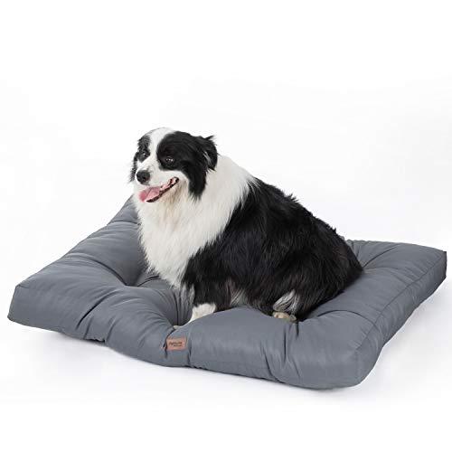 Bedsure Cuscino per Cane Grande da Interno Impermeabile XL 110 x 90 cm Grigio - Materassino per Cane Taglia Grande Lavabile