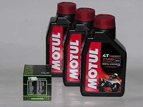 3 LT LITRI OLIO moto MOTUL 7100 10W40 + FILTRO OLIO 100% Sintetico NEW Ester 4 T (indicare modello...