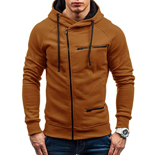 zarupeng Sudadera con capucha hombres de manga larga capucha Tops chaqueta abrigo ropa